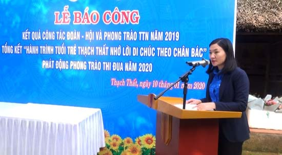 Huyện đoàn Thạch Thất: Tổng kết công tác Đoàn năm 2019; phát động phong trào thi đua năm 2020