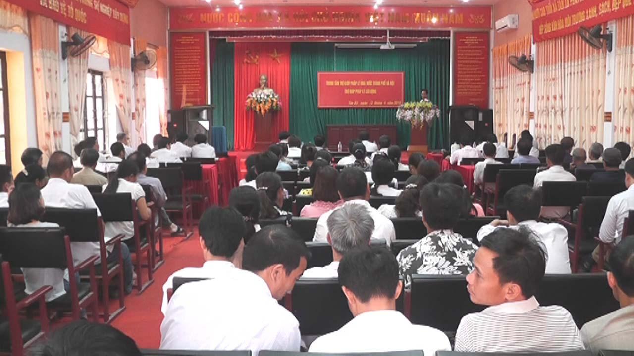 Xã Tân Xã phối hợp Trung tâm trợ giúp pháp lý thành phố Hà Nội  tuyên truyền Luật tới hội viên các đoàn thể trên địa bàn xã