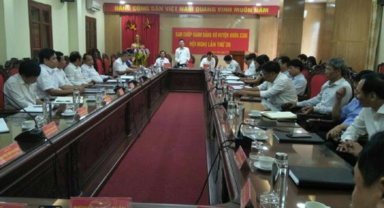 Hội nghị Ban chấp hành Đảng bộ huyện Thạch Thất lần thứ 26, nhiệm kỳ 2015-2020