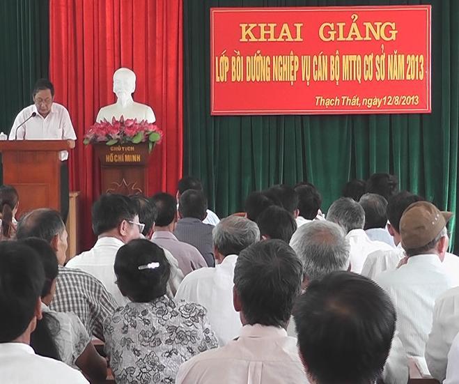 Huyện Thạch Thất tập huấn nghiệp vụ cho đội ngũ cán bộ mặt trận cơ sở