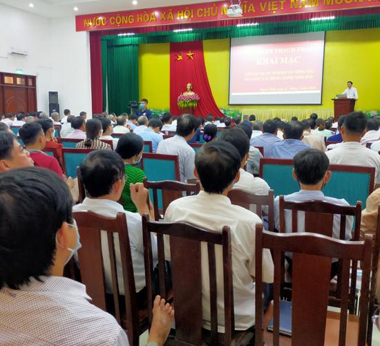 Khai giảng lớp tập huấn nghiệp vụ công tác Tổ chức Xây dựng Đảng năm 2020