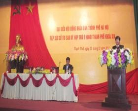 Đại biểu hội đồng nhân dân thành phố tiếp xúc cử tri tại huyện Thạch Thất
