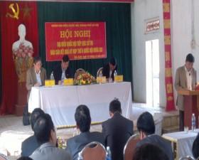 Đoàn đại biểu Quốc hội khóa XIII tiếp xúc cử tri tại xã Tiến Xuân- huyện Thạch Thất.