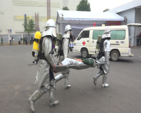 Thạch Thất: Diễn tập phương án phòng cháy, chữa cháy và cứu nạn, cứu hộ huy động nhiều lực lượng phương tiện