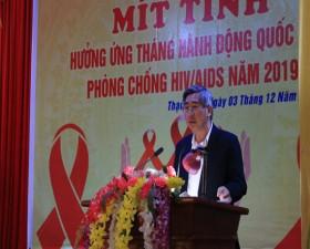 Lễ mít tinh hưởng ứng Tháng hành động quốc gia phòng chống HIV/ AIDS năm 2019