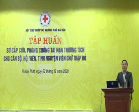Cụm thi đua số 5- Hội Chữ thập đỏ Thành phố Hà Nội tập huấn sơ cấp cứu, phòng chống tai nạn thương tích năm 2020