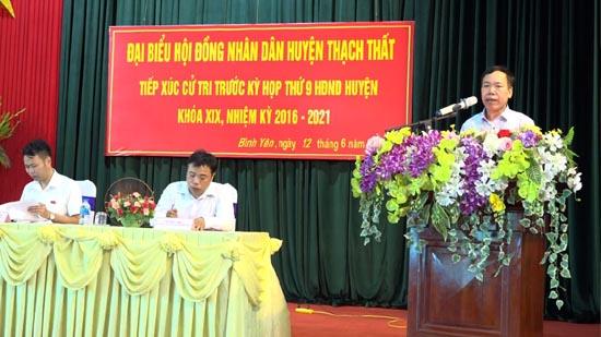 Các Tổ đại biểu HĐND huyện tiếp xúc cử tri  trước kỳ họp thứ 9