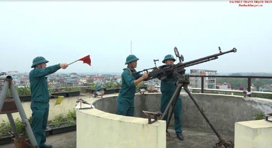 Ban Chỉ huy Quân sự huyện khai mạc huấn luyện Trung đội dân quân pháo binh phòng không nhân dân năm 2019