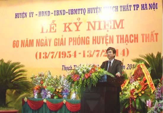 Lễ kỷ niệm 60 năm Ngày giải phóng huyện Thạch Thất.