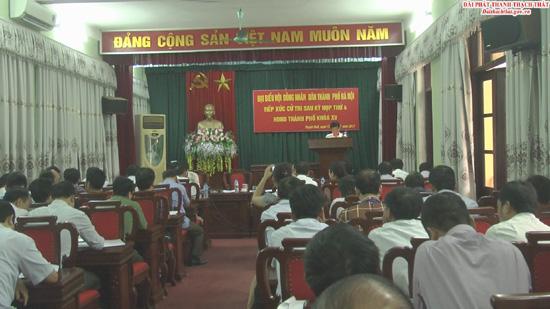 Đại biểu HĐND thành phố Hà Nội tiếp xúc cử tri sau kỳ họp thứ 4 HĐND thành phố khóa XV