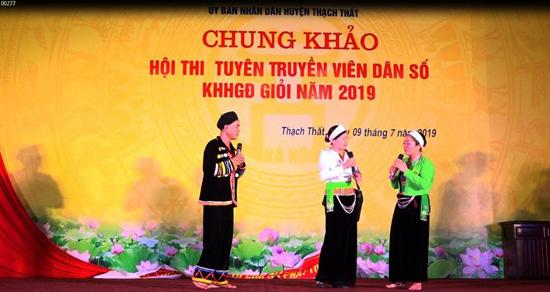 Chung khảo Hội thi tuyên truyền viên Dân số - KHHGĐ giỏi năm 2019