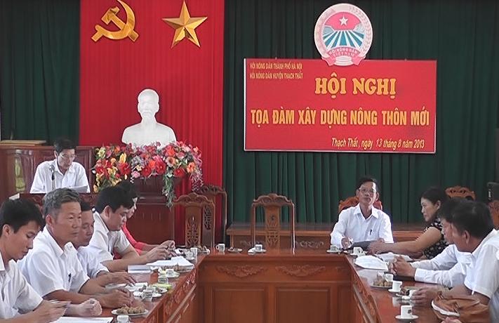 Hội nghị tọa đàm nông dân huyện Thạch Thất tham gia xây dựng nông thôn mới.