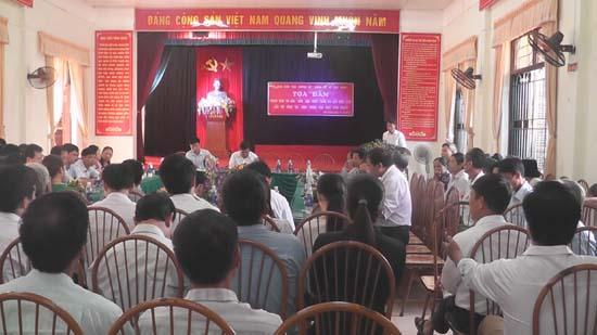 Huyện Thạch Thất tọa đàm phong trào thi đua Dân vận khéo tham gia xây dựng nông thôn mới tại xã Cần Kiệm