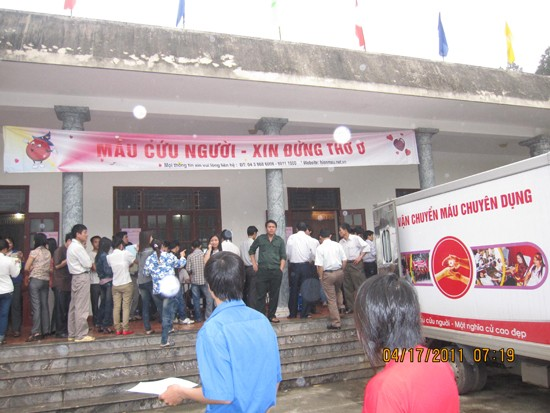 Thạch Thất tổ chức hiến máu tình nguyện.