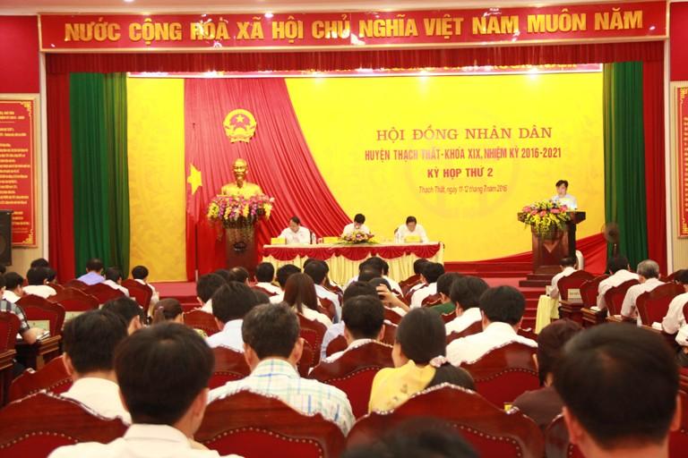 HĐND huyện Thạch Thất họp kỳ thứ 2, nhiệm kỳ 2016- 2021
