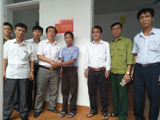 Khánh thành Nhà tình nghĩa cho Cựu chiến binh xã Cẩm Yên