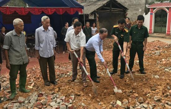 Xã Phú Kim khởi công Nhà tình nghĩa cho đối tượng chính sách