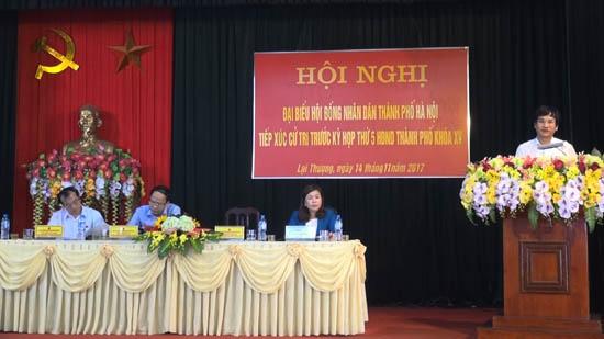 Đại biểu HĐND thành phố Hà Nội tiếp xúc cử tri tại huyện Thạch Thất trước kỳ họp thứ 5- HĐND Thành phố khóa XV