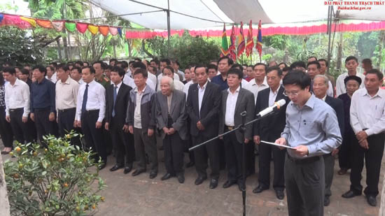 Lễ dâng hương tưởng nhớ Danh nhân Văn hóaTrạng Bùng Phùng Khắc Khoan