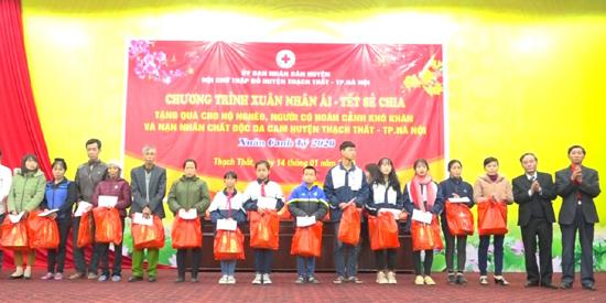 Chương trình Xuân Nhân ái - Tết sẻ chia của Hội Chữ thập đỏ huyện 2020