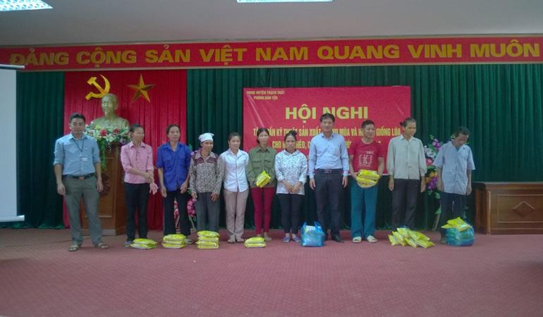 Tập huấn kỹ thuật sản xuất lúa vụ mùa và hỗ trợ giống lúa cho hộ nghèo, hộ cận nghèo, hộ thực hiện mô hình năm 2016 tại 2 xã Yên Trung và Tiến Xuân