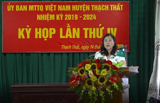 Ủy ban MTTQ huyện tổ chức Kỳ họp thứ 4, nhiệm kỳ 2019-2024