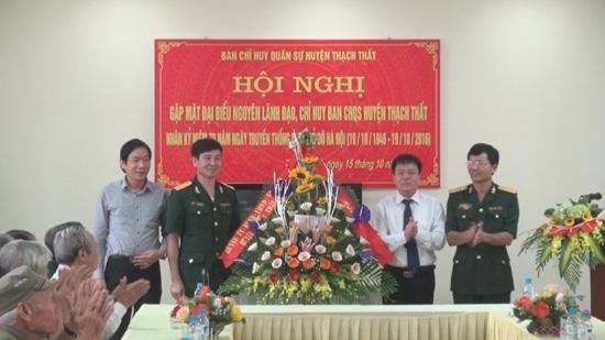 Hội nghị gặp mặt các đồng chí nguyên là lãnh đạo, chỉ huy Ban chỉ huy Quân sự huyện.