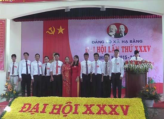 Đảng bộ xã Hạ Bằng tổ chức Đại hội lần thứ 35 nhiệm kỳ 2015- 2020.