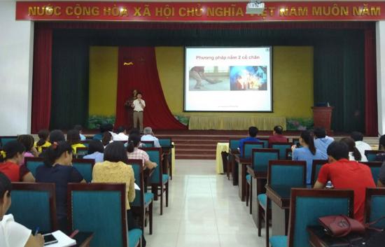 Hội Chữ thập đỏ huyện Thạch Thất tổ chức hội nghị tập huấn sơ cấp cứu ban đầu và phòng chống tai nạn thương tích