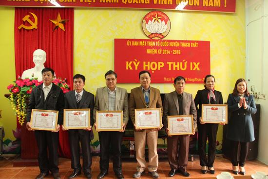 UBMTTQ huyện tổ chức kỳ họp thứ IX nhiệm kỳ 2014-2019.