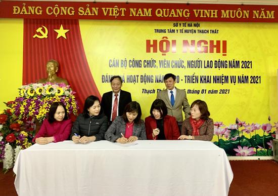 Trung tâm Y tế huyện Thạch Thất: Hội nghị đại biểu cán bộ công chức, viên chức, người lao động năm 2021