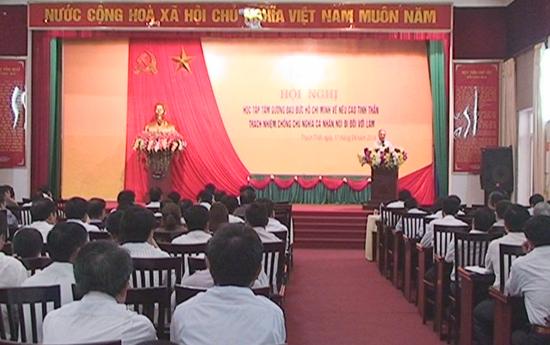 Hội nghị học tập tư tưởng Hồ Chí Minh chuyên đề năm 2014.