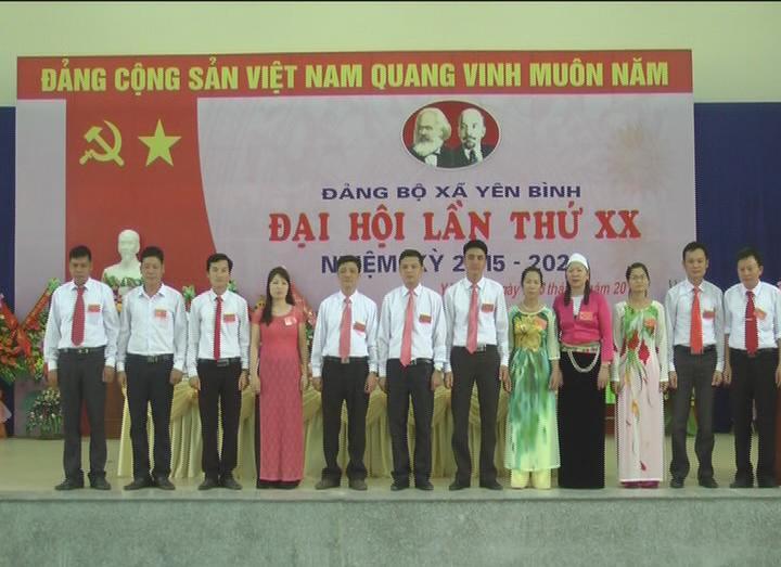 Đại hội Đảng bộ xã Yên Bình lần thứ 20 nhiệm kỳ 2015-2020