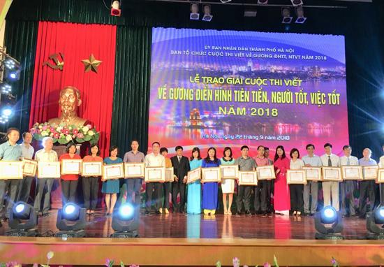 Huyện Thạch Thất đạt giải trong cuộc thi viết về Gương điển hình tiên tiến, Người tốt, việc tốt năm 2018