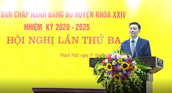 Ban chấp hành Đảng bộ huyện Thạch Thất khóa XXIV tổ chức hội nghị lần thứ 3