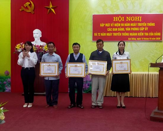 Đại Đồng gặp mặt Kỷ niệm 90 năm ngày truyền thống các ban Đảng, Văn phòng cấp ủy và 72 năm ngày truyền thống ngành Kiểm tra của Đảng