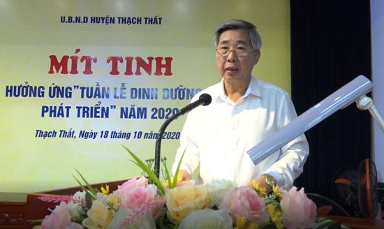 Huyện Thạch Thất: Phát động hưởng ứng Tuần lễ Dinh dưỡng và phát triển năm 2020