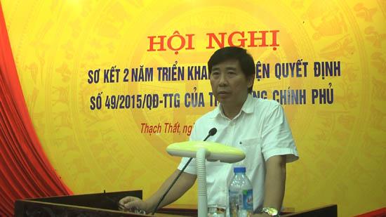 Huyện Thạch Thất sơ kết 2 năm thực hiện Quyết định 49 của Chính phủ