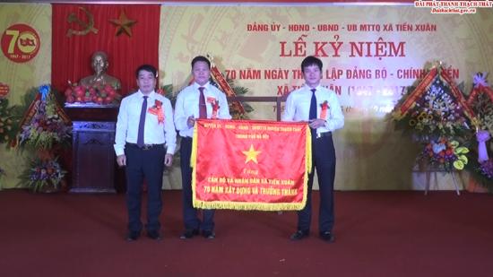 Kỷ niệm 70 năm thành lập Đảng bộ và Chính quyền xã Tiến Xuân