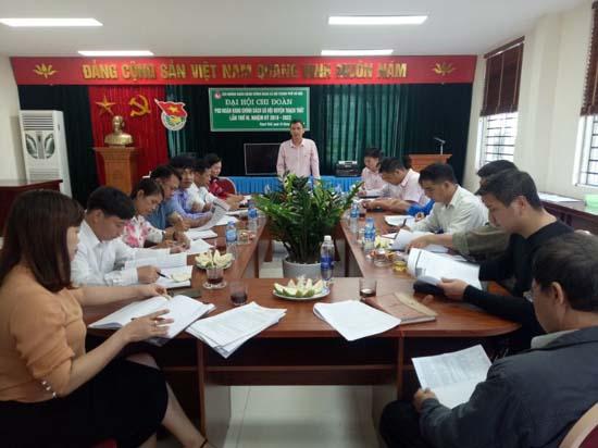 Hội nghị giao ban liên ngành đánh giá kết quả hoạt động cho vay ủy thác tại Ngân hàng CSXH huyện