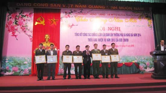 Huyện Thạch Thất tổng kết công tác chống buôn lậu gian lận thương mại và hàng giả năm  2014