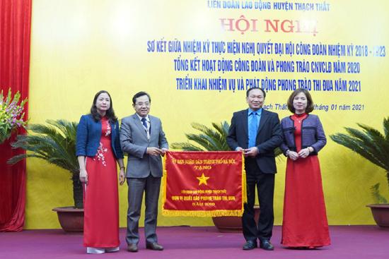 Liên đoàn Lao động huyện Thạch Thất  tổng kết hoạt động Công đoàn và phong trào công nhân viên chức lao động năm 2020