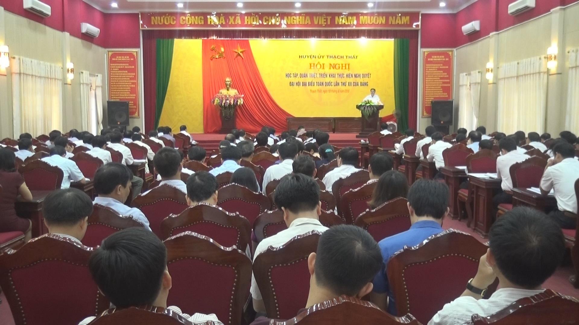 Huyện Thạch Thất học tập quán triệt thực hiện Nghị quyết Đại hội đại biểu toàn quốc lần thứ 12 của Đảng