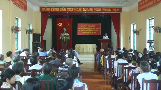 Xã Chàng Sơn tổ chức hội nghị tuyên truyền, phổ biến giáo dục pháp luật năm 2017