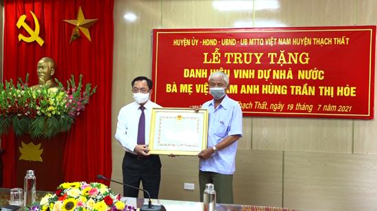 """Lễ truy tặng Danh hiệu vinh dự Nhà nước """"Bà mẹ Việt Nam anh hùng"""""""