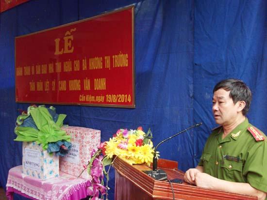 Bàn giao nhà tình nghĩa ở xã Cần Kiệm, huyện Thạch Thất.