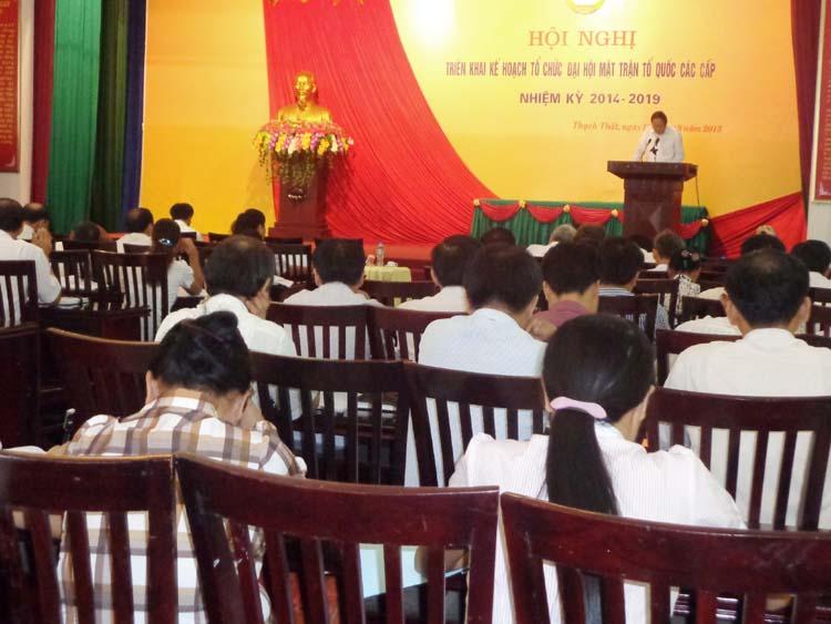 Hội nghị triển khai kế hoạch tổ chức đại hội MTTQ các cấp.