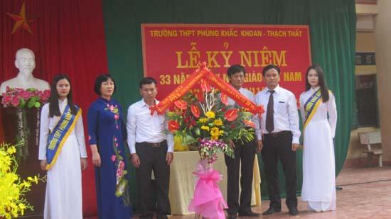 Trường THPT Phùng Khắc Khoan kỷ niệm ngày Nhà giáo Việt Nam.