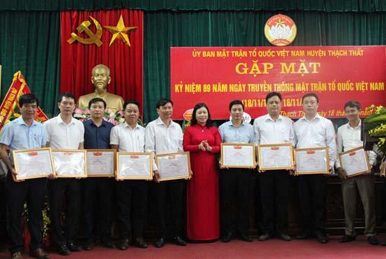 Thạch Thất kỷ niệm 89 năm Ngày truyền thống MTTQ Việt Nam