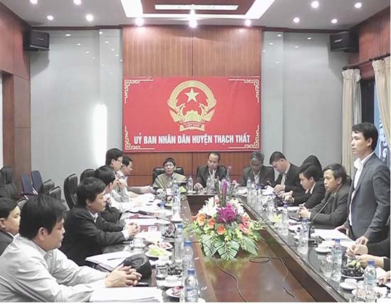 Hội nghị về quản lý và sử dụng đất đai trên địa bàn huyện.